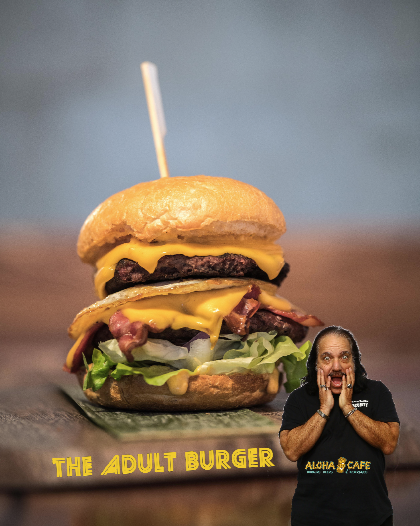 adult burger ron jeremy aloha beach
